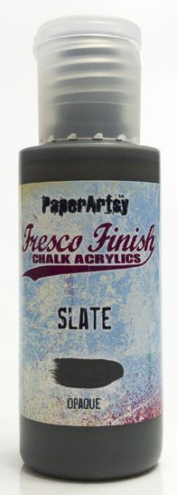 *PRE-ORDERING, PaperArtsy, Fresco Finish Chalk Acrylics Paint - Slate
