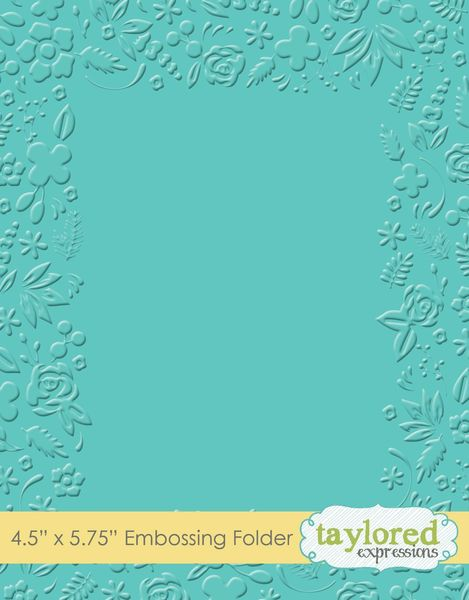 Taylored Expressions, Garden Party, Embossing Folder, 4.5 x 5.75 inches