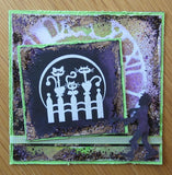 Prickley Pear, Zombie Xing - Red Rubber Stamp - Scrapbooking Fairies