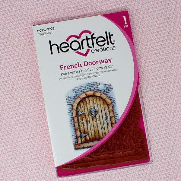 Heartfelt Creations Cling Rubber Stamp Set, French Doorway, French Cottage