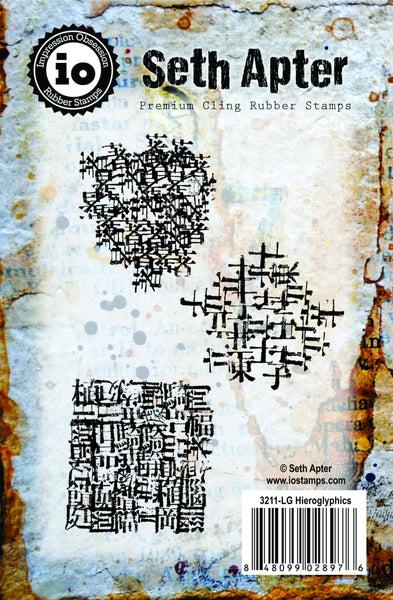 Impression Obsession, Seth Apter, Premium Cling Rubber Stamps, Hieroglyphics