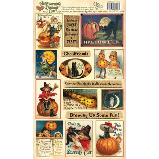 Crafty Secrets, Halloween Time Heartwarming Vintage Cuts