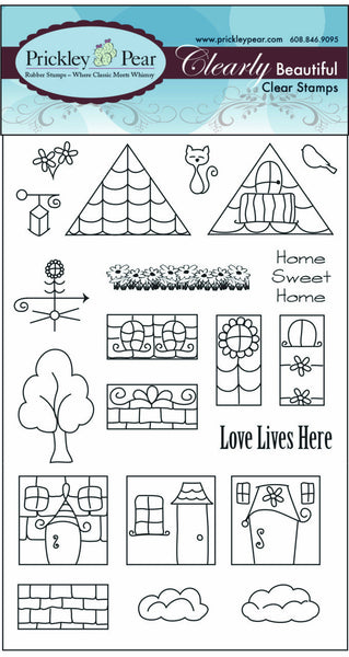 Prickley Pear, Row House, Clear Stamp - Scrapbooking Fairies