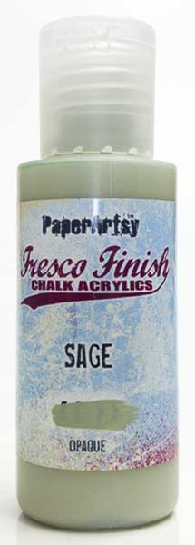 PaperArtsy, Fresco Finish Chalk Acrylics Paint - Sage (Opaque)