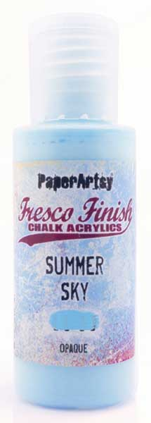 PaperArtsy, Fresco Finish Chalk Acrylics Paint - Summer Sky (Opaque)
