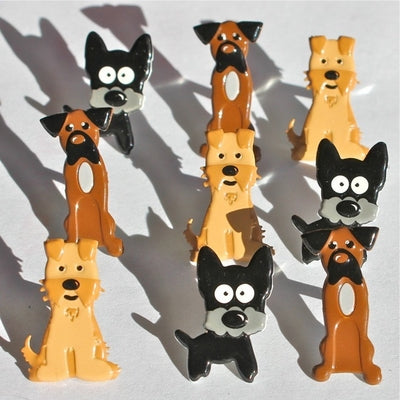 Shape Brads 12/Pkg, Puppy
