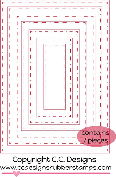 C.C. Designs Rectangles #1 Metal Die - Scrapbooking Fairies