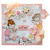 Dreamerland Crafts, My Three Little Pigs, Rubber Stamps - Scrapbooking Fairies