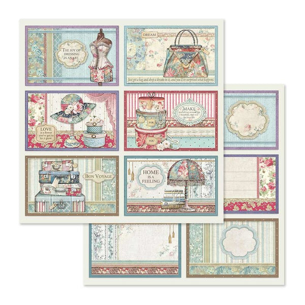 "Stamperia Double-Sided Cardstock 12""X12"", 6 Frame Decorations"
