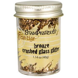 Stampendous Frantage Crushed Glass Glitter 1.41oz, Bronze