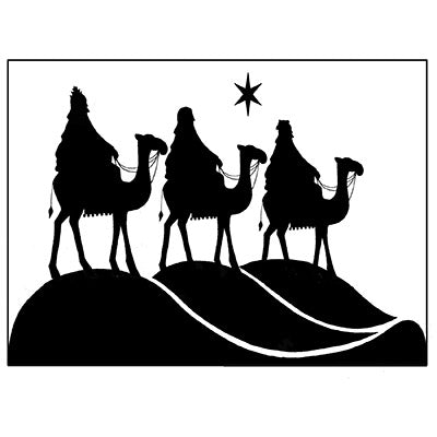 Lavinia Stamp, Three Kings (LAV076), Clear Stamp