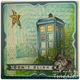 Wooden Stamp, Blue Police Box by Susan M. Brown