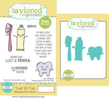 Taylored Expressions, Tooth Be Told Stamp & Die Combo - Scrapbooking Fairies
