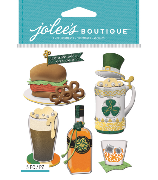 Jolee's Boutique, St.Paddy's Food And Drink 3D Stickers