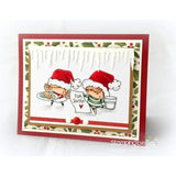 Stamping Bella, Cling Stamp, Waiting For Santa - Scrapbooking Fairies