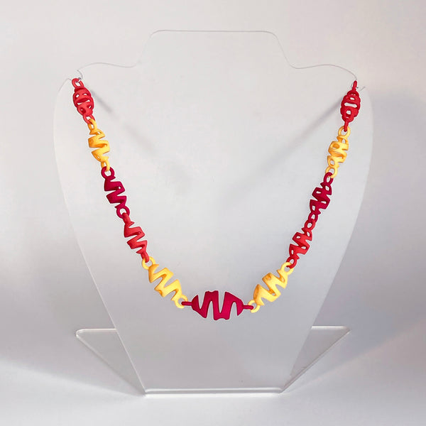 NEW! multi-color squigglium necklace