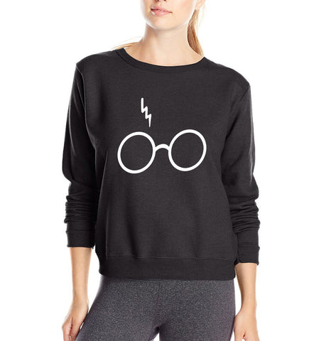 Harry Potter Lightning Scar Glasses Sweatshirt
