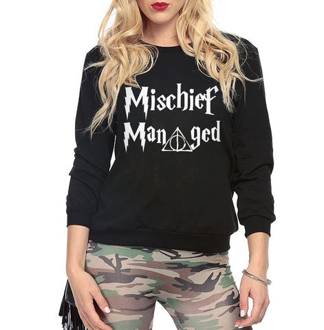 Harry Potter Mischief Managed Sweatshirt