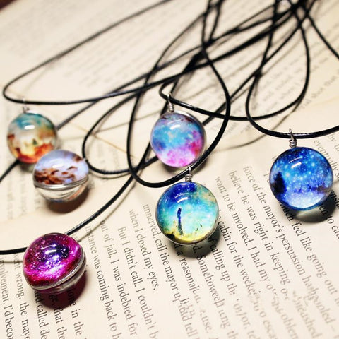 Galaxy Pendant Necklace - Worlds Colliding