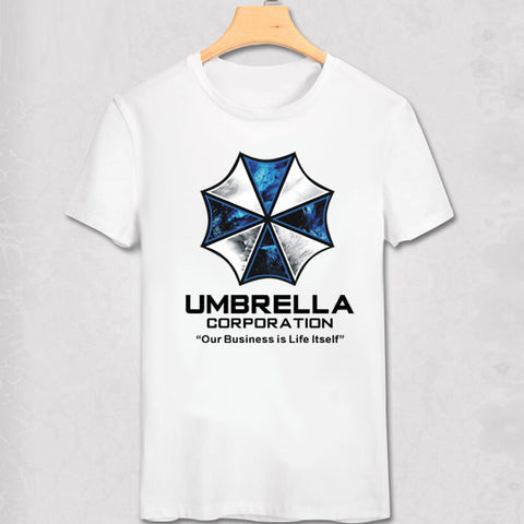 Resident Evil Blue Umbrella Corporation Logo Our Business Is Life Itself T-Shirt
