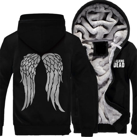 The Walking Dead Daryl Wings Fleece Lined Hoodie