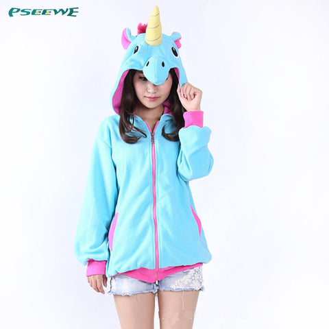 Adorable Unicorn Fleece Hoodie - Worlds Colliding