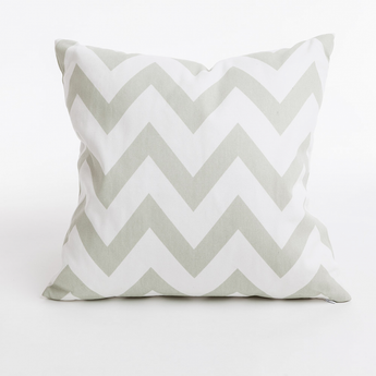 Zig cushion is geometric zig zag print in colour grey and white. Bold design