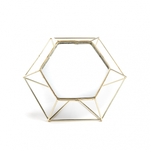 Our Geo mirror is one of our favourite pieces from The Studio Collection. Made into Hexagonal shape with gold wire frame.