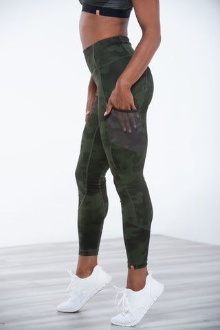 Wilma Legging Grey Camo