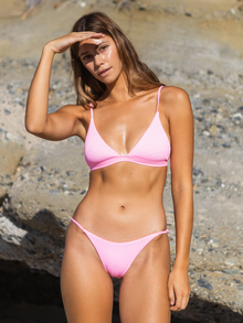 Ella Ribbed Set - Candy Pink