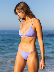 Ella Ribbed Set - Purple Iris