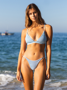 Ella Ribbed Set - Sky