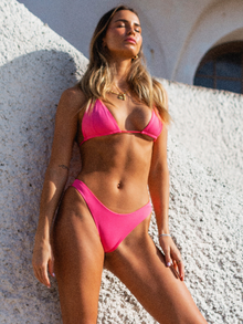 Tasha Shirred Triangle Top x Isabel Bottom - Watermelon