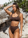 Sadie High Waist Set - Espresso