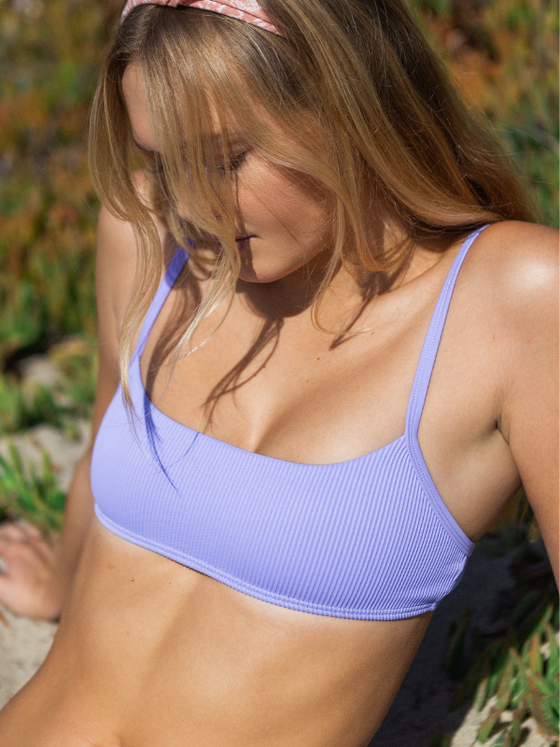 Penny Ribbed Top x Ella Ribbed Bottom - Purple Iris