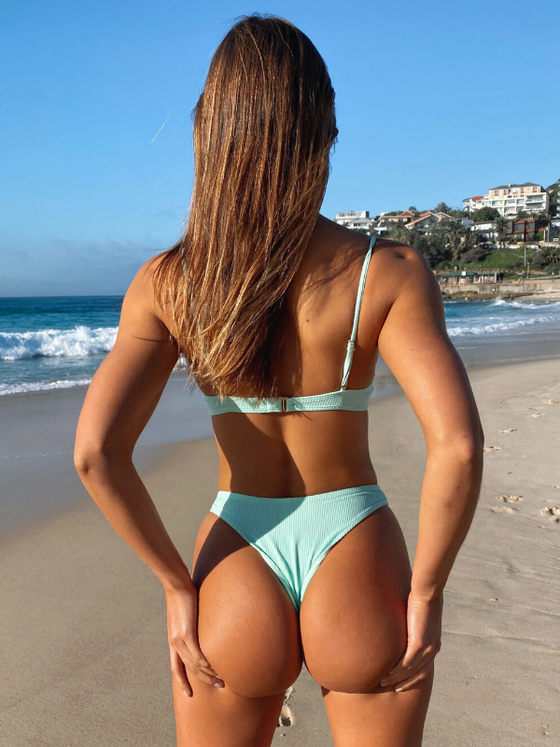 Piper Ribbed Set - Mint Green
