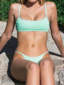 Penny Ribbed Top x Ella Ribbed Bottom - Pistachio