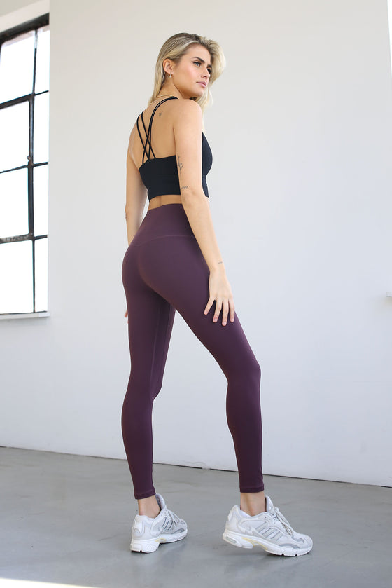 7/8 High-Rise Core Legging - Merlot