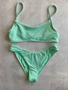 Piper Ribbed Top x Piper II Moderate Coverage Bottoms - Mint Green