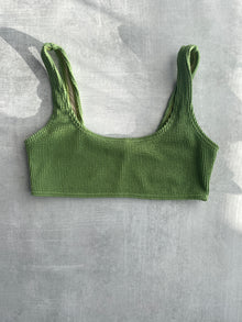 Emma Crinkle Top - Matcha Green