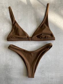 Bella Bralette Set - Chocolate Brown