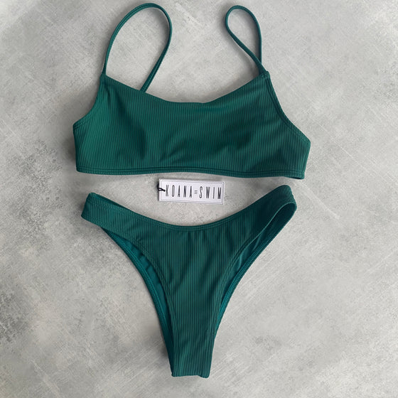 Piper Ribbed Set - Forest Green