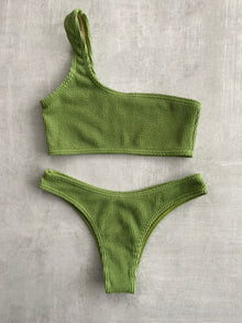 Tia One Shoulder Set - Matcha Green