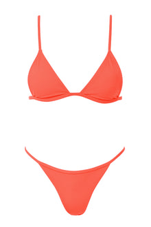 Willow Ribbed Set - Tangerine