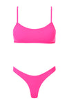 Piper Ribbed Set - Neon Pink