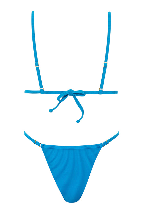 Willow Ribbed Set - Azure Blue