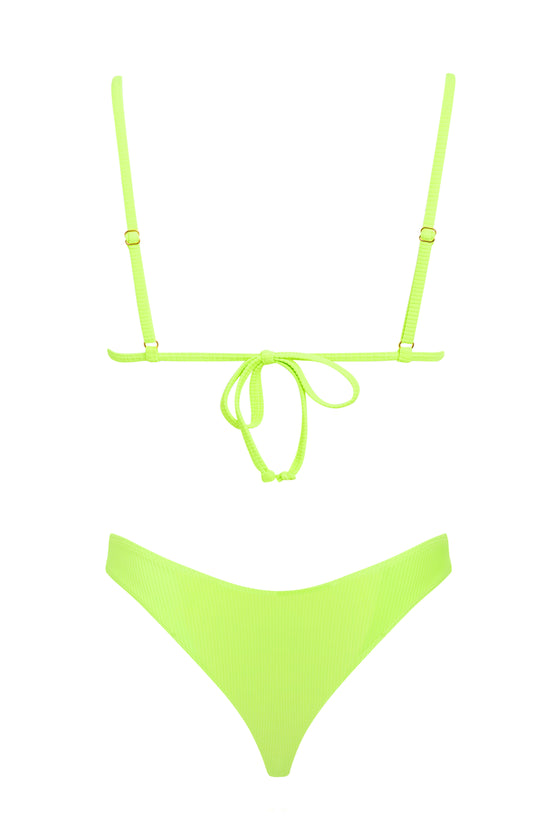 Piper Ribbed Bottom - Neon Lime