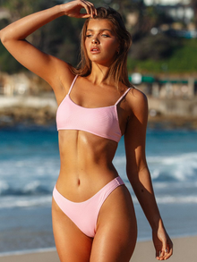 Piper Ribbed Bottom - Baby Pink