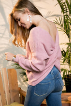 Mauve Twist Back Sweater