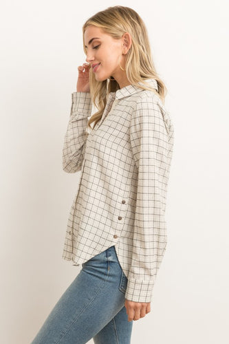 RID SHIRT WITH SIDE OPEN BUTTON DOWN SHIRT